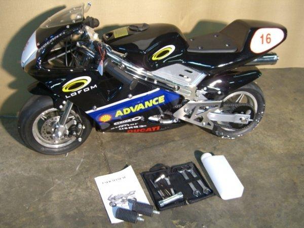8B: New Pocket Bike GLT-1 Mini Motorcycle 49cc