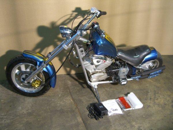 12B: New VelocitaBikes Mini Chopper Motorcycle 49cc