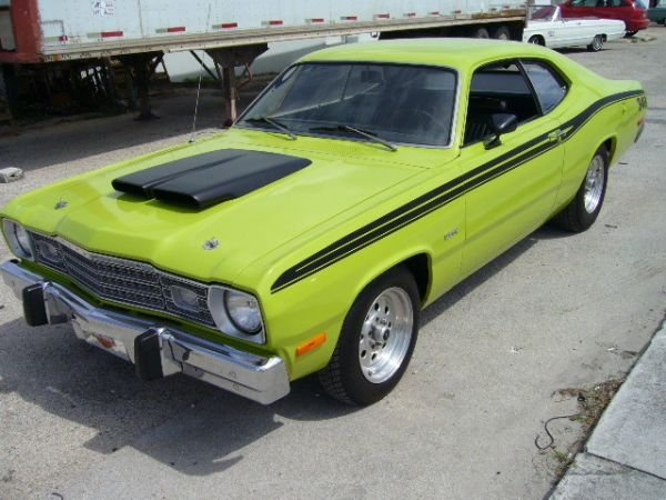 18B: 1973 Plymouth Duster Lime Green