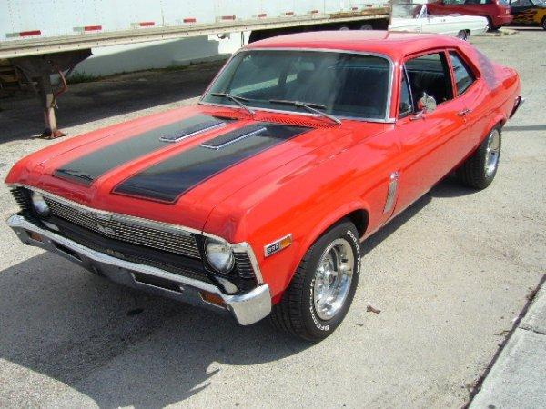 7: 1969 Chevrolet Nova 396 Red