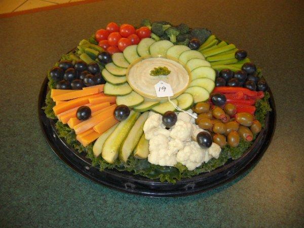 19A: Décor Vegetable Platter