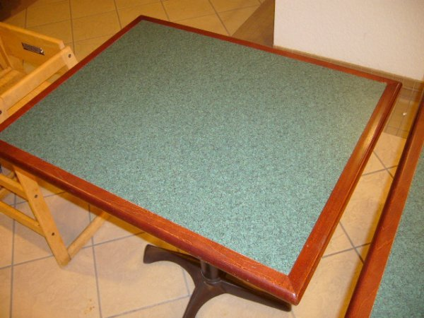 """24A: (15) 30""""x24"""" 2 Person Darkwood Tables"""