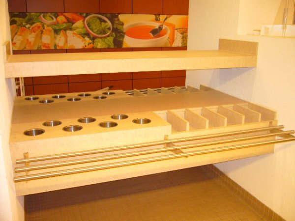 """27A: 72""""x69"""" Wall Mount Condiment Station"""