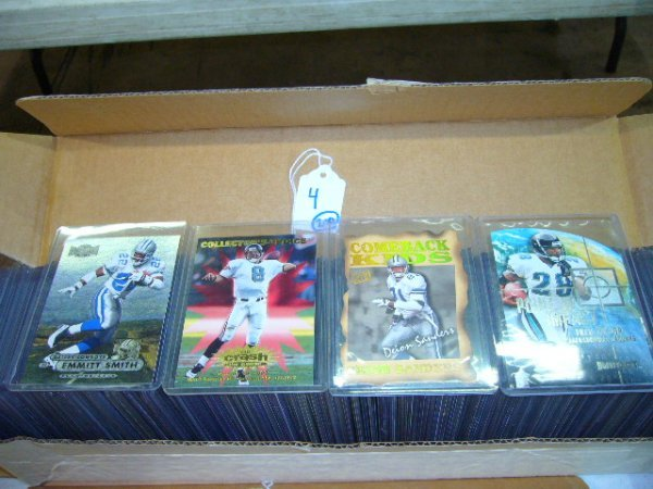4: (200) NFL Cards (All in plastic cases)
