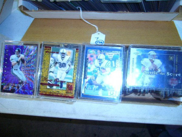 7: (140) NFL & College Football Cards (All in plastic c