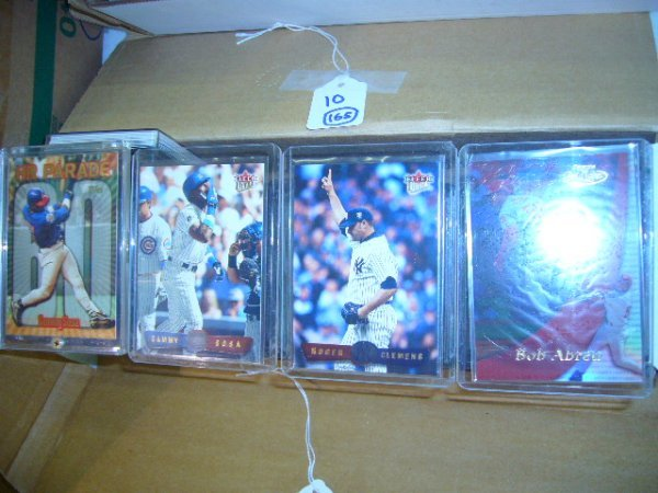 10: (165) MLB Cards (Most in plastic cases)
