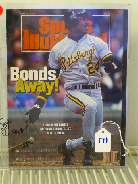 171: Barry Bonds Sports Illustrated First Cover 1992