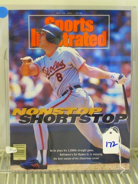 172: Cal Ripken Jr. Sports Illustrated First Cover 1991
