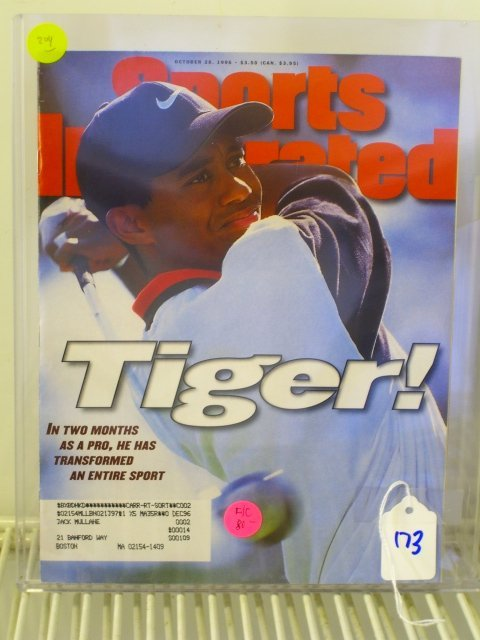 173: Tiger Woods Sports Illustrated First Cover 1996