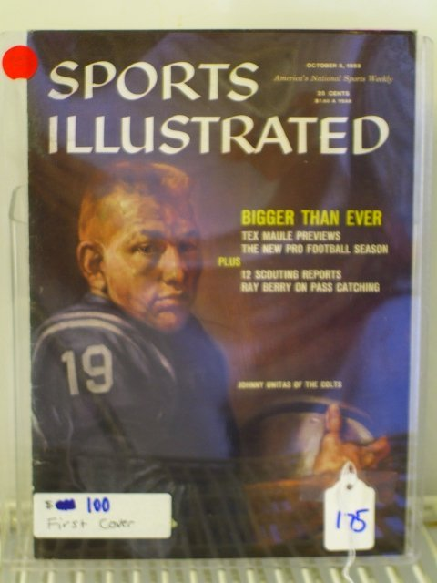 175: Johnny Unitas Sports Illustrated First Cover 1959
