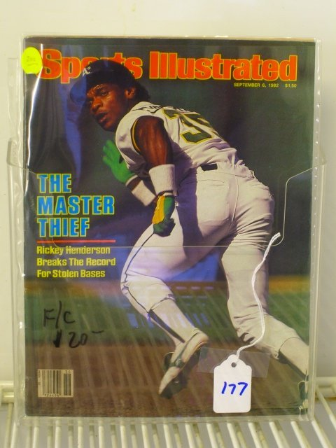 177: Rickey Henderson Sports Illustrated First Cover 19
