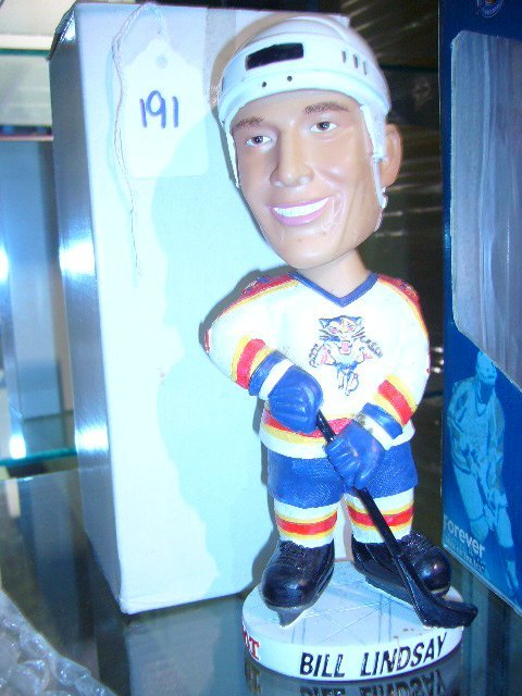 191: Bill Lindsay Panthers Hand Painted Bobble Head Dol