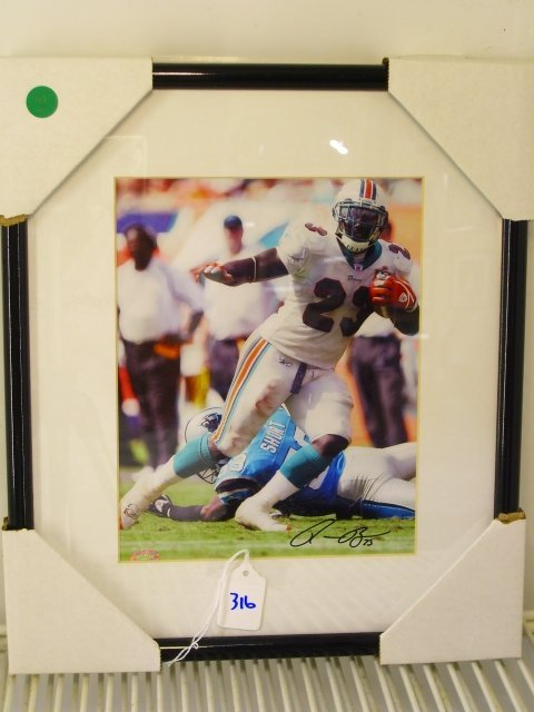316: Ronnie Brown Framed Picture Signed