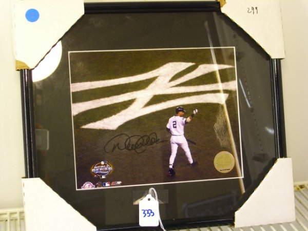 333: Derek Jeter Framed Picture Signed '03 World Series