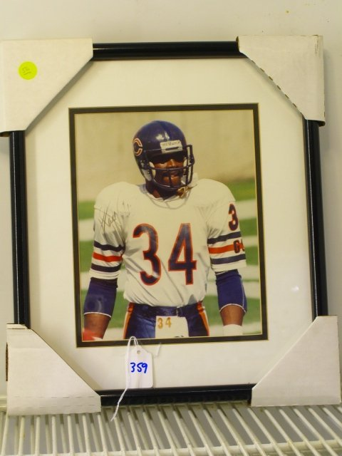359: Walter Payton Framed Picture Signed