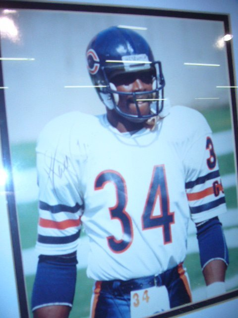 359: Walter Payton Framed Picture Signed - 2