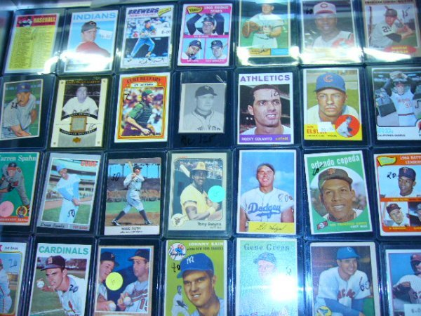 376: (55) MLB Cards (All in plastic cases)