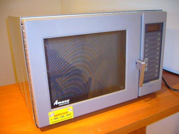 203A: Amana RCS10MP 1000 Watt Commercial Microwave