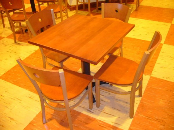 216A: (29) MTS Seating Chairs w/Metal Frame & Wood Seat