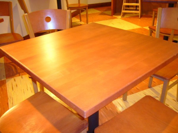 "217A: (12) 30""x30"" 4 Person Butcher Block Tables w/Base"