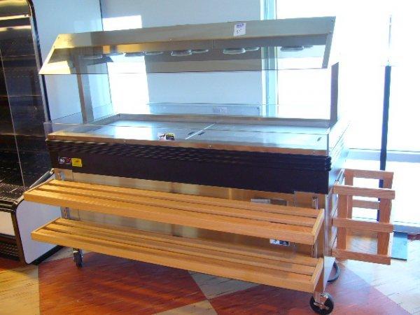 263A: BKI MM-6 Mobile Heated Merchandiser w/SneezeGuard