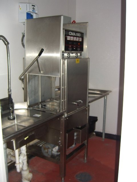 325A: CMA Model HTSB High Temp S/S Dishwashing Machine