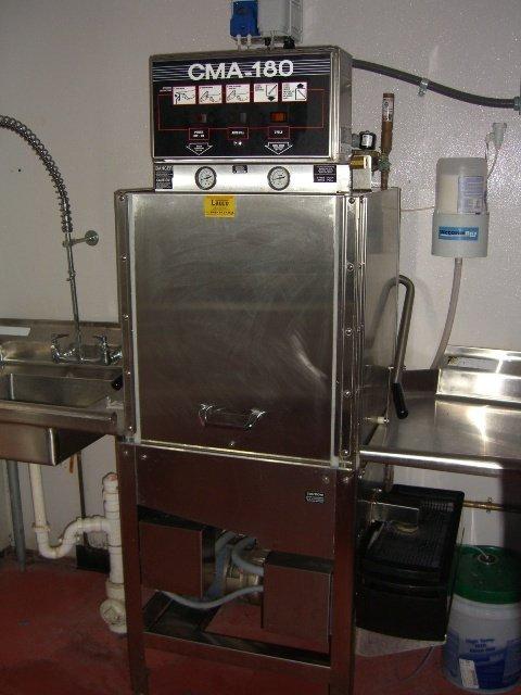 325A: CMA Model HTSB High Temp S/S Dishwashing Machine - 9