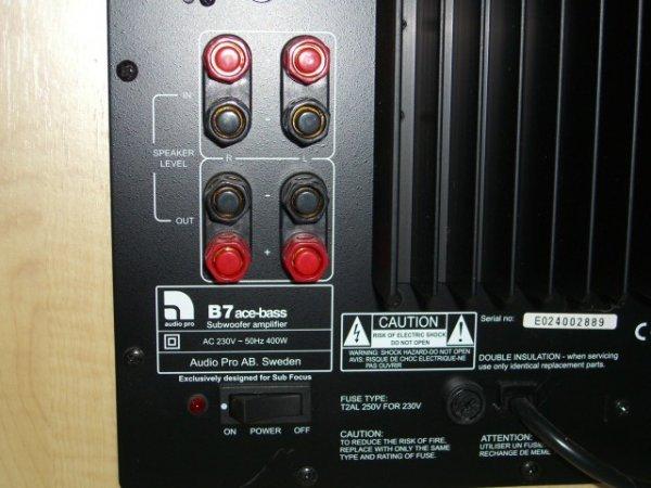 22: Audio Pro B7 Sub Focus Subwoofer Amplifier - 4