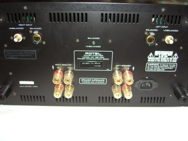 36: Rotel RB-1090 Power Amplifier - 3