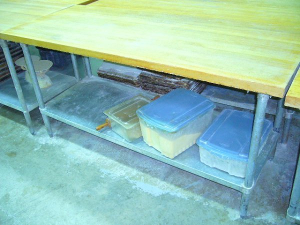 "503: 72""x30"" Butcher Block Work Table w/Galv. Undershel"