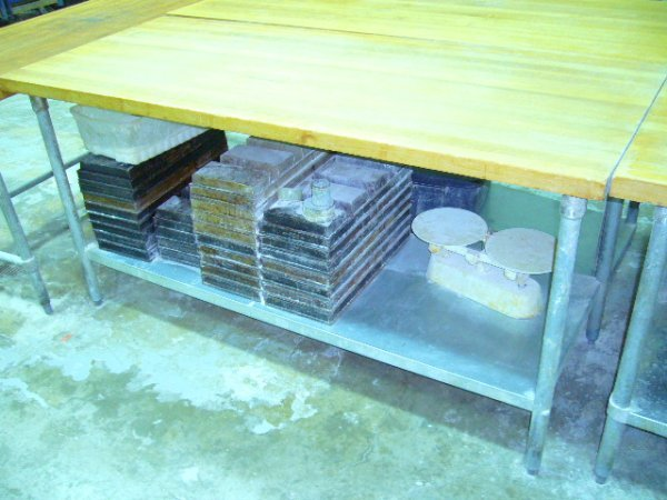 "504: 72""x30"" Butcher Block Work Table w/Galv. Undershel"