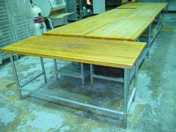 "505: 72""x30"" Butcher Block Work Table w/Galv. Legs"