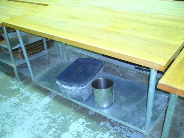 "506: 72""x30"" Butcher Block Work Table w/Galv. Undershel"