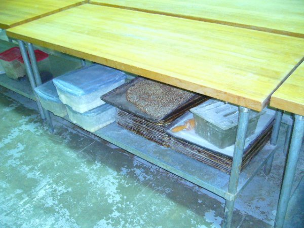 "507: 72""x30"" Butcher Block Work Table w/Galv. Undershel"