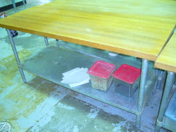 "508: 72""x30"" Butcher Block Work Table w/Galv. Undershel"
