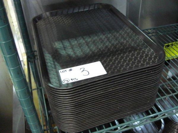 3: (24) Black Plastic Trays