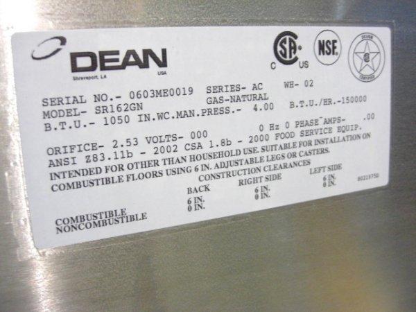 27: New Dean SR162GN Fryer Nat Gas S#0603ME0019 - 5