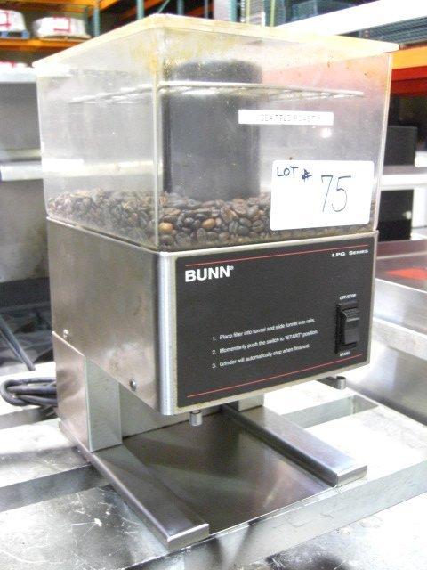75: Bunn LPG S/S Coffee Bean Grinder S#0027358