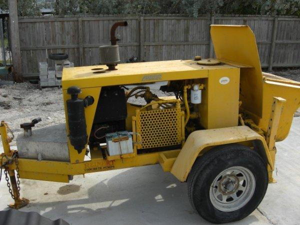 """24A: 2001 Reinhart 3"""" Diesel/Hydraulic Concrete Pump"""