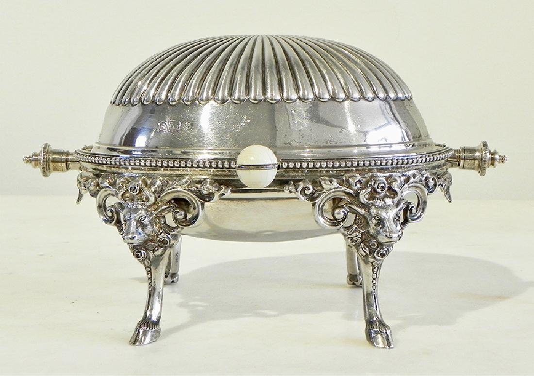 English Silver Butter Dish