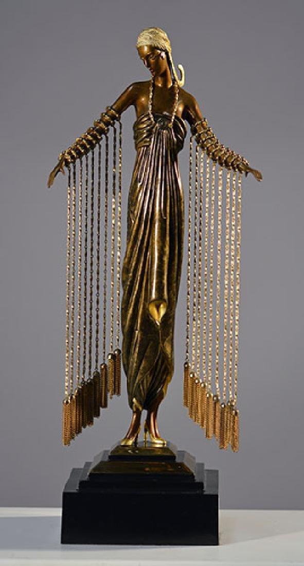 Erte Bronze Figure