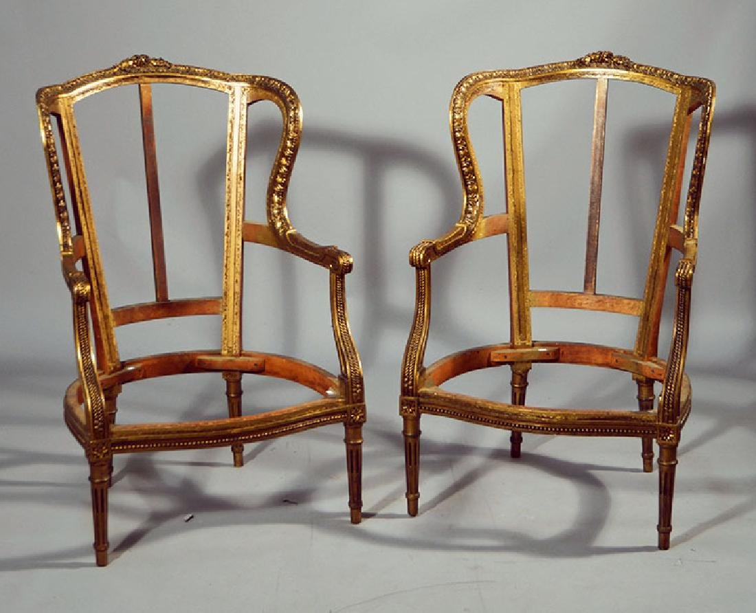 Pair French Bergere Frames
