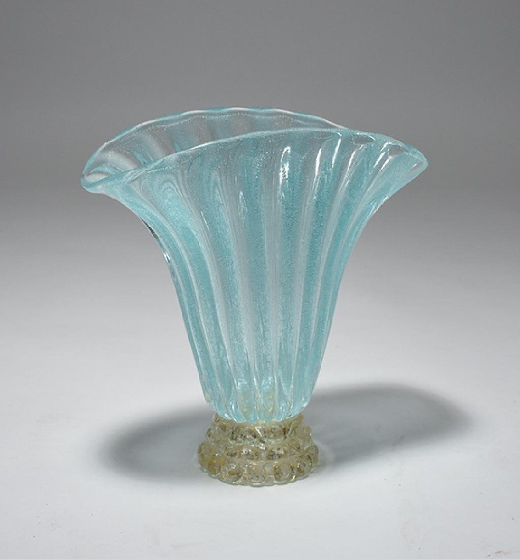 Italian Murano glass (fan vase)