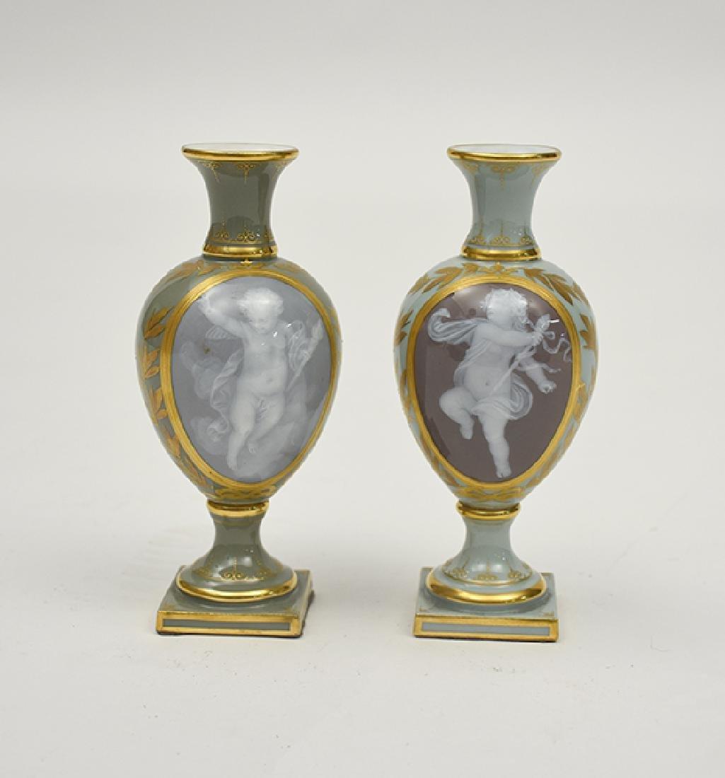 Pair of Meissen vases, Pate Sur Pate