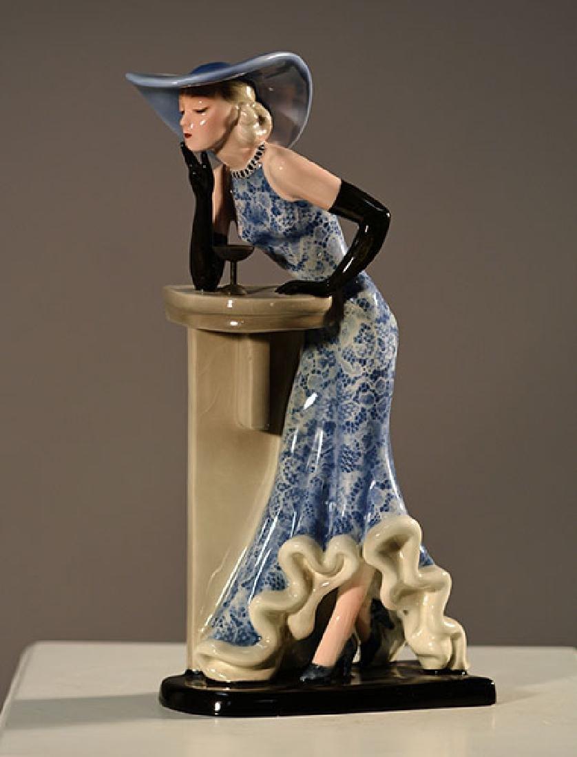 Goldscheider Wein Art Deco Figurine