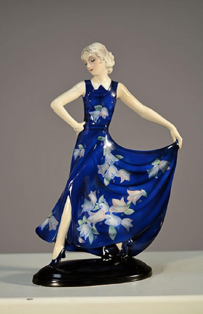 Goldscheider Wein Art Deco Figure