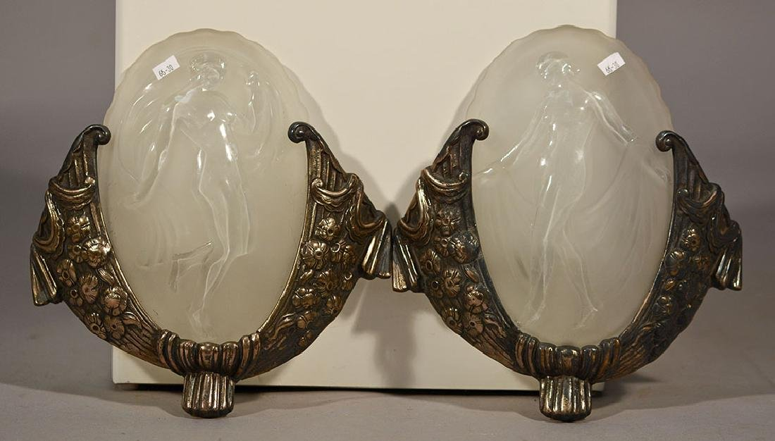 Muller-Freres Luneville Art Deco Wall Lights