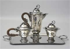 """Three piece Mexican silver tea service """"Lafayette"""""""