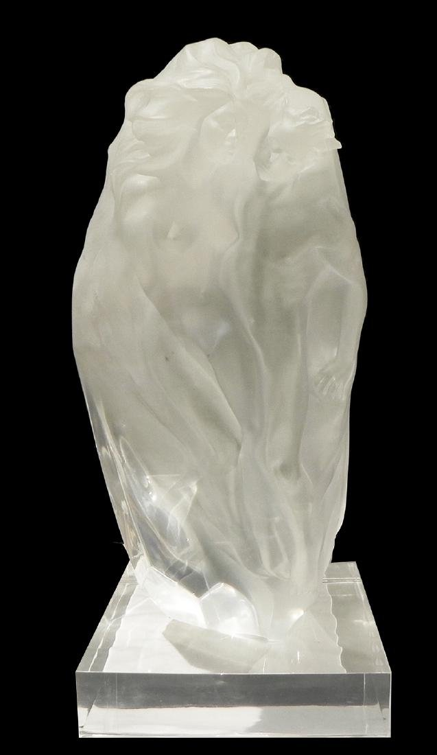 Frederick Hart (1943-1999) acrylic/lucite sculpture