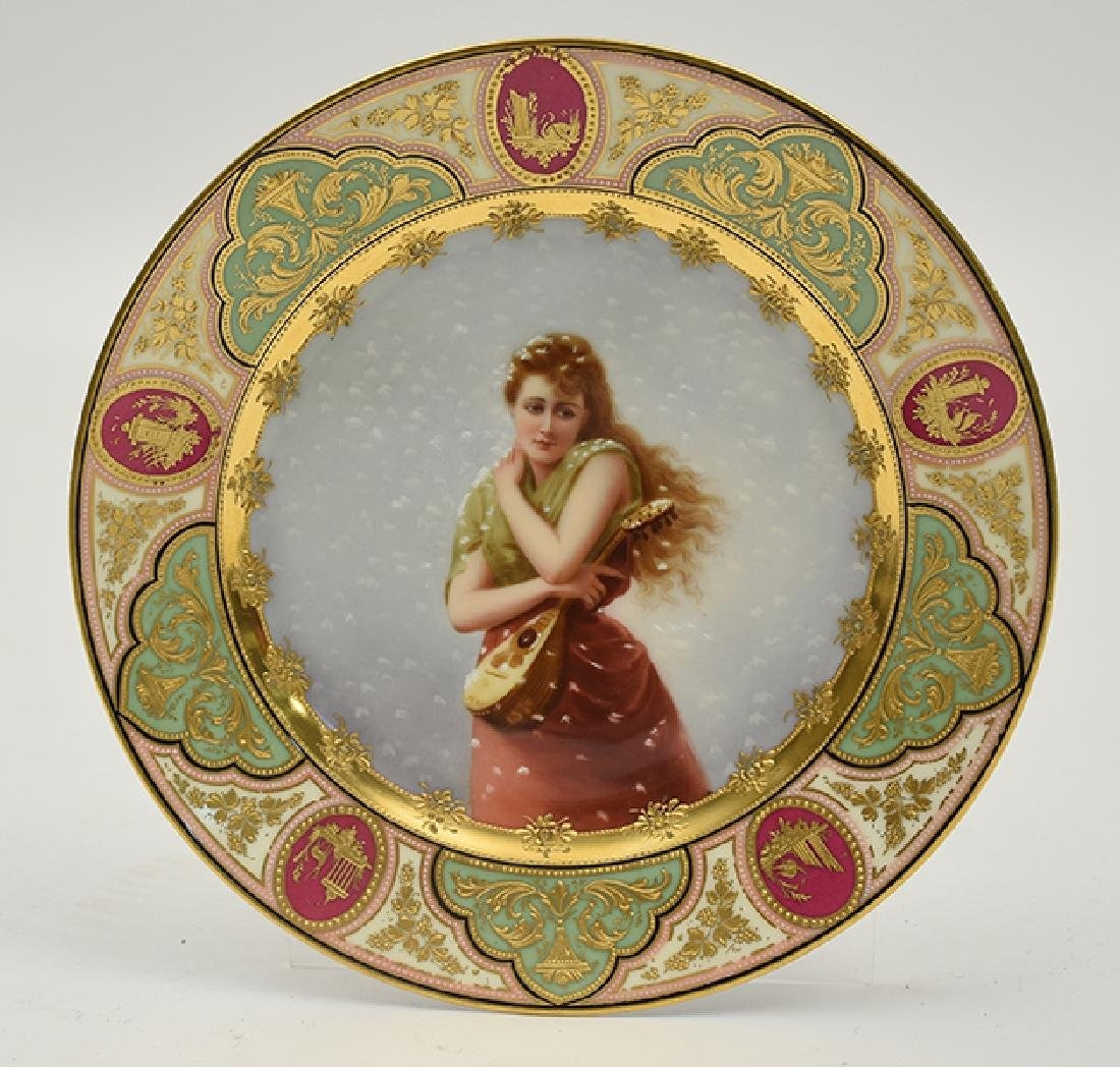 "Royal Vienna cabinet plate, ""Winter"""